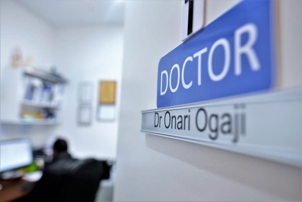 Doctor Onari Ogaji Central health clinic sunshine